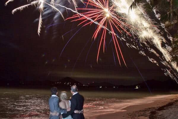 Cairns Wedding Fireworks